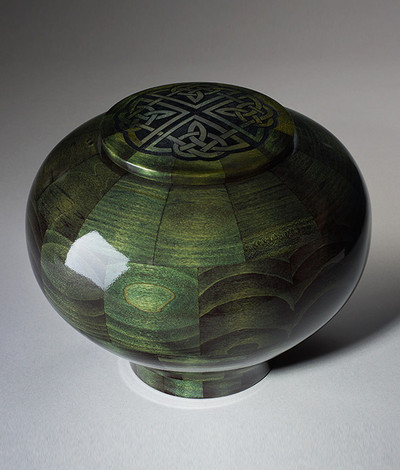 Celtic Knot Hand Turned Cremation Urn