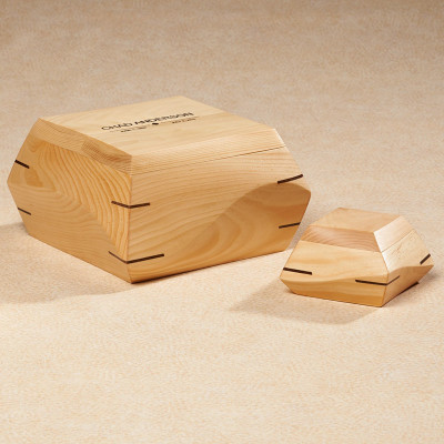 Woodsculpt Pine Wood Cremation Urn