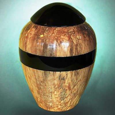 Hand Turned Maple Wood Urn