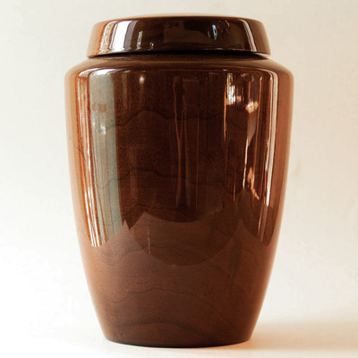Simple Black Walnut Wood Cremation Urn