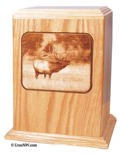 Elk Scene Laser Engraved Urn