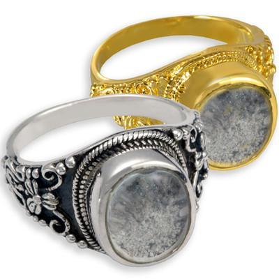 Antique Round Cremation Ring