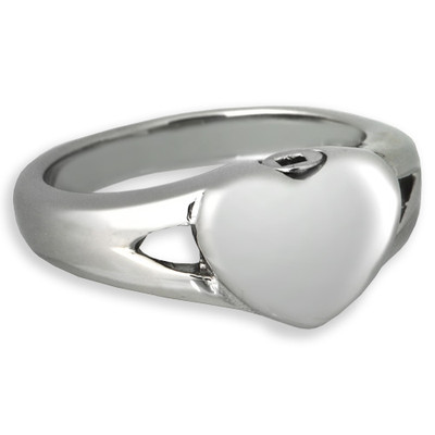 Elegant Heart Cremation Ring
