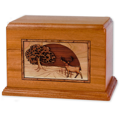 Heartland Deer Wood Companion Urn - Mahogany