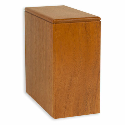 Niche Cremation Urn - Mahogany Wood
