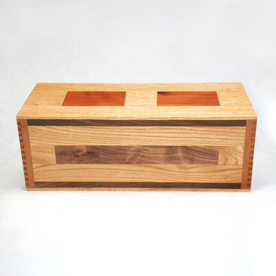 Handcrafted wood urn with gorgeous inlays