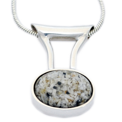 Oval Deluxe Cremation Necklace
