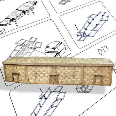 DIY Assembly Bamboo Coffin for Natural Burial
