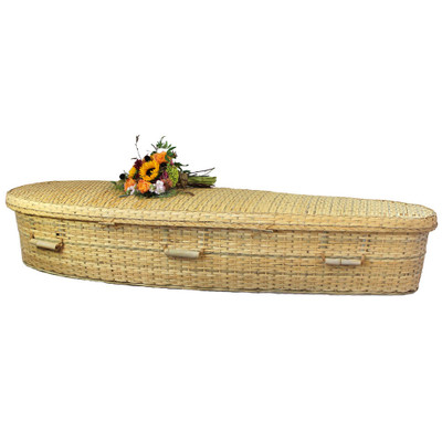 Natural Burial Bamboo Casket (flowers not included)