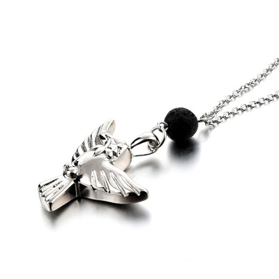 Dove Cremation Urn Necklace with Essential Oil Diffuser