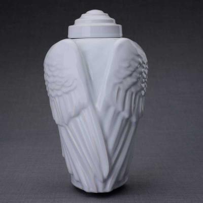 Angel Wings Sculpture Art Ceramic Cremation Urn