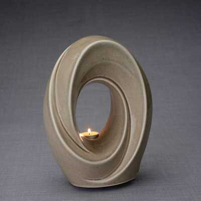 Passage - Ceramic Art Memorial Urn with Tea Light Candle
