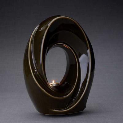Passage - Ceramic Art Memorial Urn with Tea Light Candle