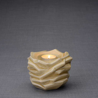 Radiance Tealight Candle Small Cremation Urn in Light Sand