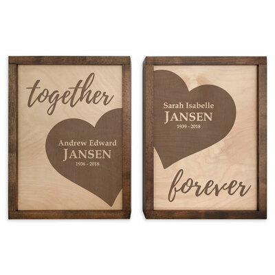 Together Forever Wall Mounted Plaque Urn Set