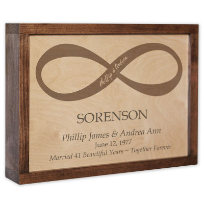 Infinity Companions Wall Mounted Wood Companion Urn Plaque