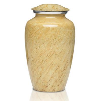 Artisan Ivory Metal Cremation Urn - Adult Urn