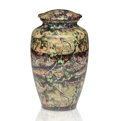 Camouflage Metal Cremation Urn
