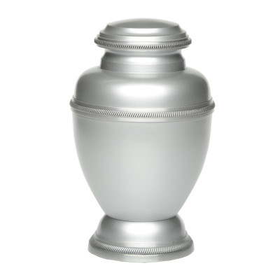 Triumph Metal Cremation Urn - Silver Color