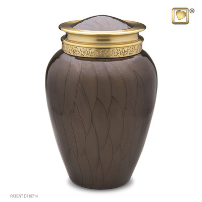 Blessing Brass Cremation Urn - Adult Size