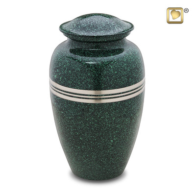 Emerald Green Metal Cremation Urns - Adult Urn