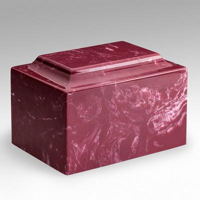 Classic Cultured Marble Urn in Berry