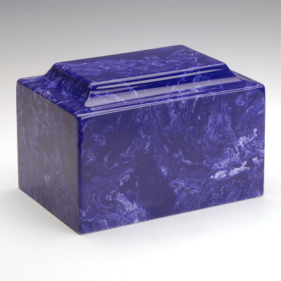 Classic Cultured Marble Urn in Cobalt