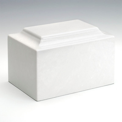 Classic Cultured Marble Urn in Glacial White