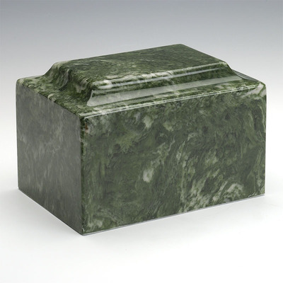 Classic Cultured Marble Urn in Emerald