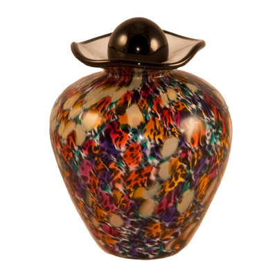 Bella Hand Blown Glass Pet Urn - Desert