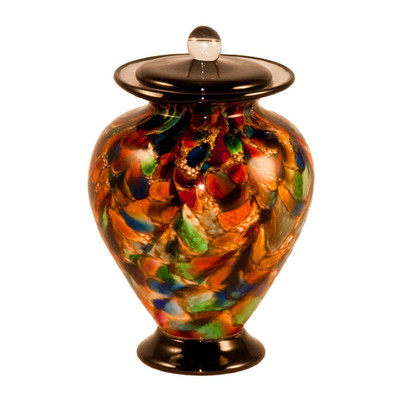 Amato Hand Blown Glass Pet Urn - Autumn