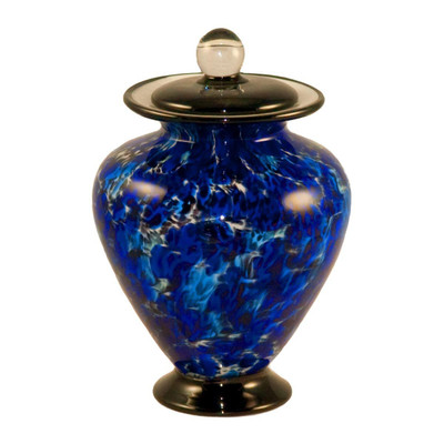 Amato Hand Blown Glass Pet Urn - Water