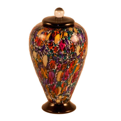 Small Deco Hand Blown Glass Urn - Desert