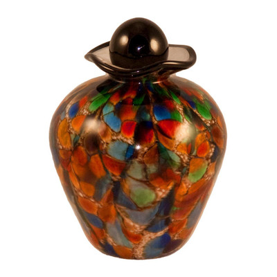 Small Bella Hand Blown Glass Urn - Autumn