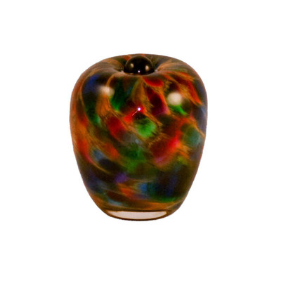 Classic Hand Blown Glass Keepsake Urn - Autumn