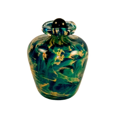 Bella Hand Blown Glass Keepsake Urn - Sky