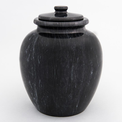 Legacy Marble Cremation Urn in Black