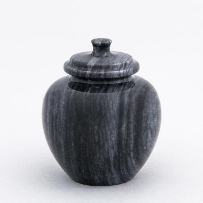 Legacy Marble Keepsake Urn in Black