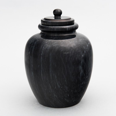Legacy Youth/Sharing Marble Cremation Urn in Black