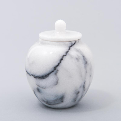 Legacy Infant/Petite Marble Cremation Urn in White