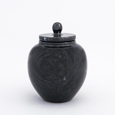 Infant/Petite Marble Cremation Urn in Black