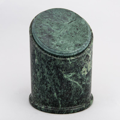 Crown Natural Marble Cremation Urn in Green