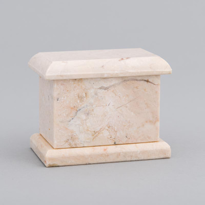 Evermore Rectangle Marble Keepsake Urn in Champagne