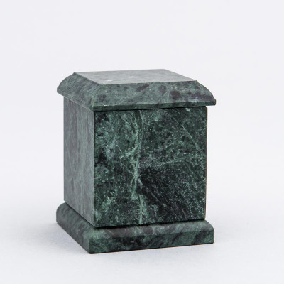Evermore Square Marble Keepsake Urn in Green