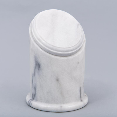 Crown Youth/Sharing Natural Marble Cremation Urn in White