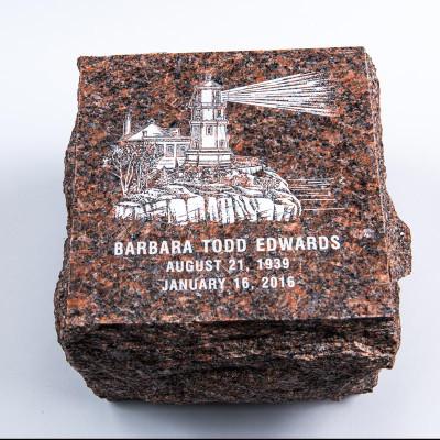 Garden Stone Granite Urn for Ashes - Brown
