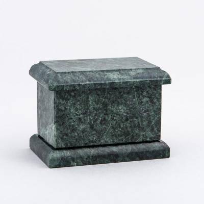 Evermore Rectangle Marble Keepsake Urn in Green