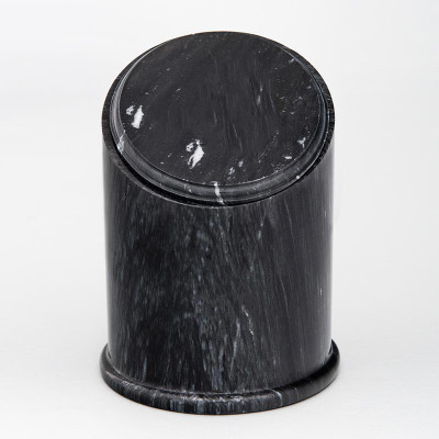 Crown Natural Marble Cremation Urn in Black