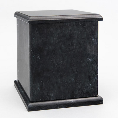 Evermore Square Marble Cremation Urn in Black