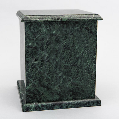 Evermore Square Marble Cremation Urn in Green